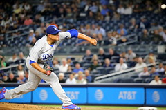 Dodgers starter Julio Urias delivers a pitch in the first inning.