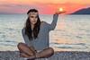Don't let the sun go down... (Vagelis Pikoulas) Tags: sun sunset sea landscape seascape porto germeno autumn greece 2016 september girl woman canon 6d tamron 70200mm vc sky colour colours