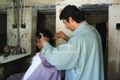 Hamam and Barber Shop in Sukkur. (Akhuwat BPP) Tags: akhuwat brotherhood microfinance interest free loans sindh sukkur pakistan barber shop small business entrepreneurship
