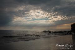 Magic (Connar L'Ecuyer) Tags: socal beach landscape sunset cloud ocean clouds goldenhour cloudy malibu elmatador rocks