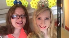 Disneyland Paris 2016 (Elysia in Wonderland) Tags: matching handmade homemade ears minnie mouse yellow daisies flowers