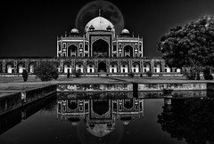 Surreal! (Vaibhav Kaushik) Tags: landscape reflection travel architecture beautiful moon nikon monument india art monochrome bnw ancient photography photoshop artistic puddle landmark fantasy mosque architectural historical delhi traditional heritage photooftheday incredibleindia indianphotography blackandwhite sky outdoor traveler wandershots building light old tourism outdoors wanderlust realm asia classic nikkor design texture arch indian indianphotographers brickwork newdelhi history picoftheday traveller flickr streetphotography ngc bw