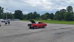1974 Dodge Colt_20160813_131233 (Wampa-One) Tags: 1974dodgecolt loner carshow sunsetford mitsubishi captiveimport 74 1974 dodgecolt red parkinglot
