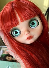Heart Attack! (Chassy Cat) Tags: chassycat custom doll blythe wip workinprogress olyinwonderland eyechips redhead factory fake freckles bangs fringe