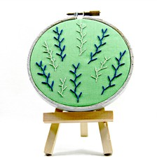 Feather Stitch Green, Blue, and Grey Embroidery Hoop Art. Hand Embroidered. (Hey Paul Studios) Tags: green wall grey embroidery cubicleart etsy minimalist navyblue deskart needlecraft greyframe handembroidery bedroomart hoopart featherstitch kcetsyteam greyandnavyblue