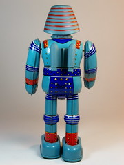 Billiken Shokai  Tin Wind Up  Giant Robo ()  Back Side (My Toy Museum) Tags: up giant tin wind robo billiken