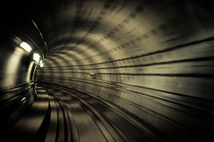 Metro Ride (Benjamin Edwards) Tags: travel train copenhagen underground denmark photography movement nikon metro tube tunnel explore curve d300 explored