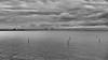 Distant Bridge (Rutger Blom) Tags: bridge sea sky blackandwhite bw water clouds 50mm skåne sweden sverige malmö vatten malmo scania oresund zweden öresund öresundsbron ef50mmf14usm canoneos5dmarkii öresundsbridge
