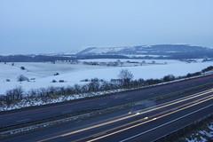 Rivington and Motorway (Rovers number 9) Tags: uk winter england snow minolta sony lancashire a65 2013 minoltaaf28135mmf445 sonya65 jan2013