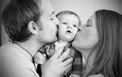 Boy surrounded with love! (ninat78) Tags: life camera boy people blackandwhite bw woman baby man eye love boys beautiful smile smiling oslo norway closeup kids canon mouth lens daddy nose happy photography parents photo kid eyes hands kiss flickr dad babies father joy mother kisses mum 7d mummy joyful potrait shoulder comments canon7d