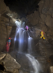 GB Cavern - Mendip - Waterfall (Steve-Sharp) Tags: water canon underground waterfall rocks descent led caves css caving acg mendip charterhouse caver scurion