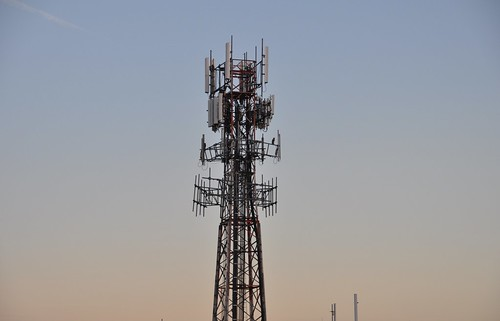 Cell Tower at Sundown