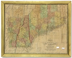 "62. 1852 Augustus Mitchell ""Map of Maine, New Hampshire, & Vermont Compiled from the Latest Authorities"""