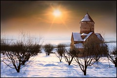 Makravank Monastery  (Sako Tchilingirian) Tags: autumn winter light sunset sky sun snow tree art fall tourism church saint fog architecture clouds digital photoshop sunrise canon photography photo arquitectura nikon arte minolta artistic religion iglesia surreal best historic holy monastery armenia historical christianity monuments yerevan historia hdr armenian sako   cs6 khachkar           tchilingirian