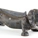 158A. Vintage Cast Iron Dog Bootscrape