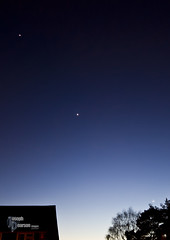 Planetary alignment_230212 (Joseph Pearson Images) Tags: moon night twilight lowlight venus crescent astrophotography planet jupiter alignment
