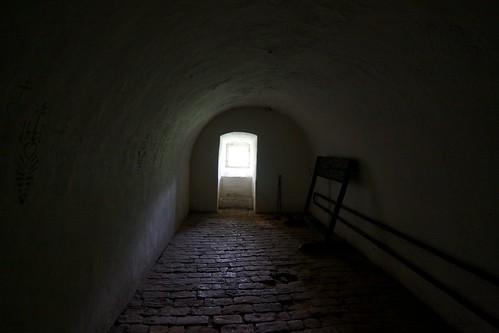 Pomieszczenie w wieży zamku w Otmuchowie