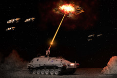 "Space 1999 Ground Tank.  ""Alpha Main Mission, I got one!"" (interstellarmodeler) Tags: space 1999 warhawks"