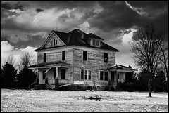 Possibly Haunted? (keeva999) Tags: storm abandoned architecture rural nikon farm country rustic iowa oldhouses d3200 atwistedlens
