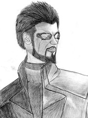Adam Jensen ([Bloodwolf42]) Tags: adam ex sketch drawing jensen deus