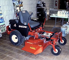 Encore Fuzion Zero Turn Mower. (dccradio) Tags: wisconsin mall farming equipment machinery ag agriculture wi agricultural farmequipment farmshow marshfield farmmachinery centralwisconsin shoppesatwoodridge marshfieldmall wisconsinfarming machineryshow agshowagricultureshow