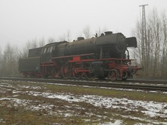 Stoomloc 23 058(Emmerich 16-2-2013)6 (Ronnie Venhorst) Tags: modern train star am br zug db steam 23 trein dlm dampf stoomtrein emmerich hauenstein friese 058 stoomlocomotief baureihe 2013 maatschappij br23 stoomloc fstm stroomtrein
