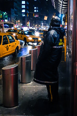 A Busy Night on Dispatch (Feldore) Tags: new york wet rain yellow night square taxi sony busy rainy times cinematic mchugh dispatch dispatcher rx100 feldore