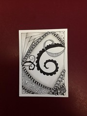 February 2013 Zentangle ATC No. 4 (Maid Mirawyn) Tags: art artisttradingcard zentangle