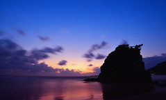 Dramatic Color (Yohsuke_NIKON_Japan) Tags: ocean sunset japan night twilight nikon colorful cloudy wide sigma  shimane dust magichour izumo 1208 10mm   inasa colorefex  d3100 inasabeach