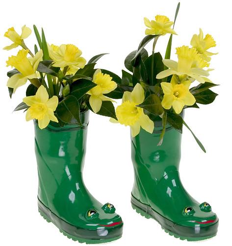 Daffodils in Rain Boots -  - Leanne and David Kesler, Floral Design Institute, Inc., in Portland, Ore.