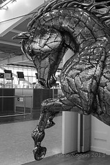 Airport Art - Horse (Anne Rogers LRPS) Tags: gallery heathrow lhr heathrowairport terminalfive michaelturner t5gallery