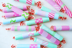 Party Candies (such pretty things) Tags: party kids colorful candy crafts tape wash smarties rolls ideas favor favors