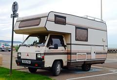 camping france home car mobile seine japanese town coach voiture maritime motor normandie caravan van dieppe 1986 camper motorhome normandy mitsubishi ville campervan haute 76 delica l300 76200 d125vsw