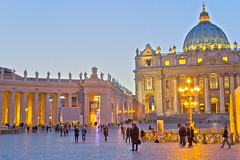 Saint Peter's Square - Rome, Italy (Craig Greenwood) Tags: city travel sunset italy pope vatican rome colour roma heritage history church archaeology beauty parish architecture landscape lights italian ancient nikon worship europe flickr raw christ cardinal god roman vibrant prayer paintings pantheon scenic historic colosseum clear holy citylights craig sacred stunning bible romantic priest leonardo dslr stpeterssquare citycentre tombs hdr breathtaking romanempire relics romans sistinechapel cleopatra vaticancity holyfather archbishop saintpeter stpeterbasilica romani icapture historicalcity historicalplace historictown historicaltown finegold citybreak houseofgod housesofworship emperorhadrian flickrtravelaward d3100