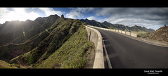 Great Wall, Tenerife (esslingerphoto.com) Tags: road shadow panorama mountain mountains tarmac wall clouds canon photography eos photo spain europe exposure shot pano structure architectural single tenerife 5d greatwall mkii taganana almaciga esslinger parqueruraldeanaga esslingerphotocom esslingerphoto benojo mountainsofanaga