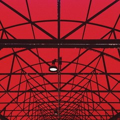 (AnthonyTulliani) Tags: red color architecture awning lookingup medford iphone iphone5 iphoneography