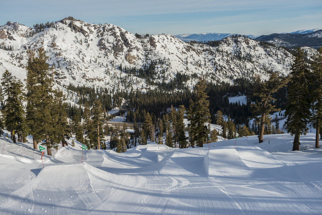 The Firing Line is a mile long terrain park at Alpine