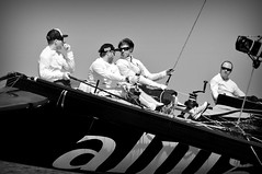 Alinghi crew (charlottehbest) Tags: people bw white black sports boat sailing action crew sail alinghi oman 2013 extreme40s musanah extremesailingseries charlottehbest x40s