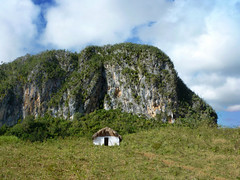 Summertime on the Prairie.. (areyarey) Tags: travel blue sky house mountain green tourism nature beauty rural landscape outdoors countryside wooden scenery natural farm cuba shed nobody scene unesco hut valley summertime shack vinales thatched mogote vinalesvalley areyarey