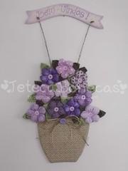 Agora em lilás (Teteca Bonecas) Tags: artesanato fuxico decoração enfeite enfeitedeporta