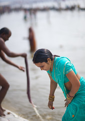 Pilgrim Bathing In Ganges, Maha Kumbh Mela, Allahabad, India (Eric Lafforgue) Tags: travel people india tourism water festival vertical river outdoors photography women bath asia day religion bank event spirituality bathing riverbank hinduism pure sari pilgrimage religiouscelebration pilgrim sangam humaninterest allahabad 1926 socialgathering haridwar purification gangesriver yamunariver uttarpradesh realpeople kumbhmela traveldestinations colorimage onewomanonly indianculture uttarakhand indiansubcontinent traditionalcloth celebrationevent traditionalceremony indianethnicity adultâ