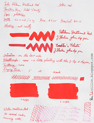 Pelikan Brilliant Red - photocopy (Peninkcillin) Tags: red varsity fountainpen pelikan pilot redink pilotvarsity brilliantred pelikanbrilliantred