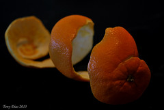 Orange peel (Tony Dias 7) Tags: orange macro closeup dark peel