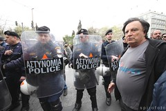 (spirofoto) Tags: holiday greek riot europe day protest police athens greece national 25 independence riots junta crisis 2013 25march   spirofoto