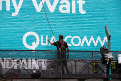 Qualcomm (Always Hand Paint) Tags: qualcommphasae1 qualcommphase1comlete b186 kristalindahl qualcomm qualcommcomplete ooh outdoor colossalmedia alwayshandpaint skyhighmurals advertising colossal handpaint mural muraladvertising telecom techelectronics biba