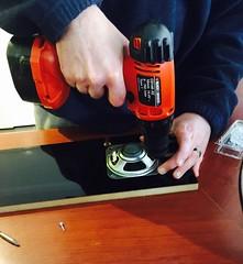Speakers (Hopkinsii) Tags: arcade cabinet make build 2016 speakers powertool