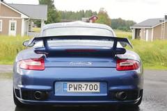 "997 turbo - 002 (Erkka Suominen) Tags: ""cobalt blau porsche"" blue ""bridge gantry"" nürburgring ""porsche 911 turbo"" ""911 ""997 ""pwr700"" ""evoms evt775"" ""evt775"" ""nürburgring bridge pccb"