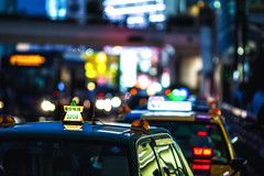Tokyo taxi (kyle_gallagher) Tags: tokyo taxi street bokeh  135mmf2