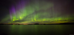 Autumn_lights(panorama) (JLindroos) Tags: night stars auroras autumn finland pori seascape nightscape sky colorful green zeiss canon jlindroos