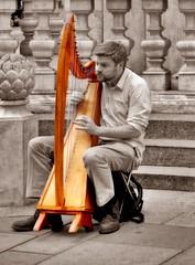 the Player (CardCollector & HobbyPhotographer) Tags: austria vienna graben streetscene harve colorkey sepiatone fujifilmxe1